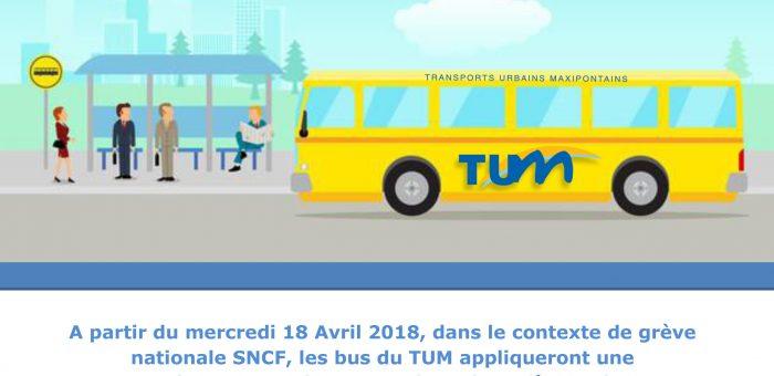 La ville de Pont-Sainte-Maxence apporte son soutien aux usagers du TER en adaptant les horaires du TUM les jours de grèves !