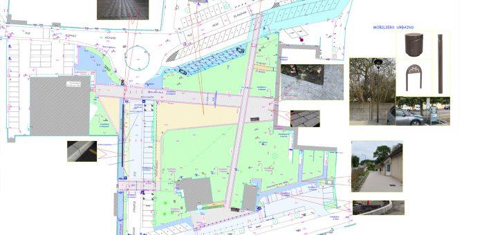 Plan du futur parc urbain du Château Richard