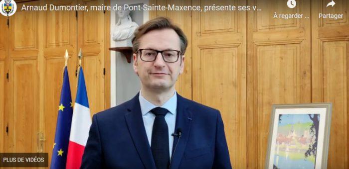 Arnaud Dumontier, maire de Pont-Sainte-Maxence, présente ses vœux 2021