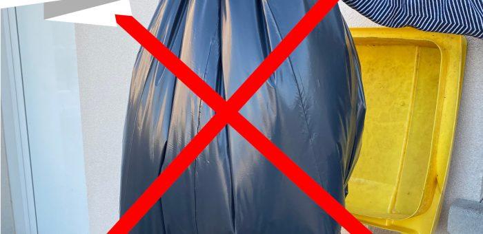 Stop aux sacs opaques dans les poubelles jaunes !