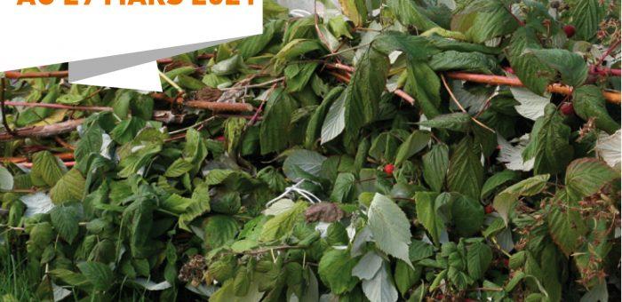 La collecte pour les déchets verts est avancée au 29 mars