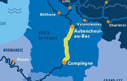 Arrêté d'autorisation environnementale du secteur 1 du canal Seine-Nord Europe.
