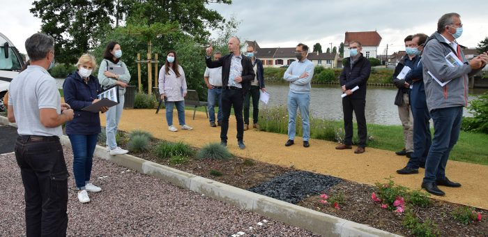 Le jury du label Villes et Villages Fleuris en visite à Pont-Sainte-Maxence